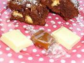 Brownie Caramel, Chocolat Blanc Noix (par Aurélie)