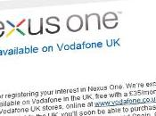 Nexus arrive chez Vodafone