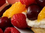 Cent-septième participation Petits shortcakes moelleux orange-cerises-framboises
