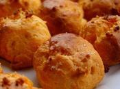 Gougères vieille mimolette noisettes grillées