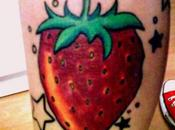 tatouages l'été, fruits mode.