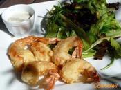 Beignets gambas tempura