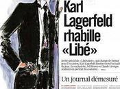 Karl Lagerfeld rhabille journal Libération