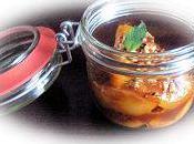 Pêches caramélisées miel amandes