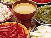 Fondue légumes sauce anchois