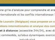 Certificat relations internationales analyse conflits l'UCL