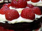 Torte chocolat garnie fraises