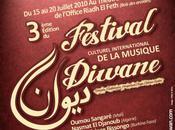 Festival culturel international musique diwane: Chant, danse transe