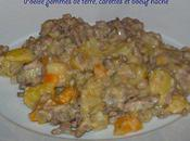 Poêlée pommes terre, carottes boeuf haché