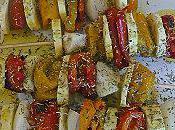 Brochettes légumes barbecue