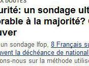 Insécurité réponse sondage Ifop-Le Figaro mesures proposées l'UMP