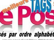 Plus tags classés ordre alphabétique pour faciliter mises lignes Post.fr