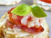 Apéritif, idées d'amuse-bouche croque jambon, tomate gruyère
