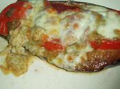 Aubergines fondantes coppa, tomates, pistou mozzarella