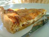 Tarte échalotes parmesan d'après Julie Andrieu