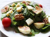 Salade comté, figues, noix miel