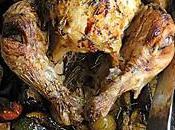 Poulet roti légumes plat pour toute famille