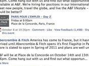 Abercrombie Fitch recrute Paris octobre 2010
