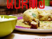 Poulet korma coriandre Korma chicken with coriander