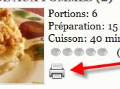 maintenant possible d'imprimer recettes