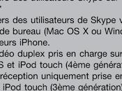 Skype apporte vidéo iPhone