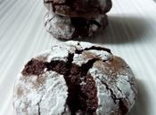 Chocolate crinkles cookies biscuits craquelés chocolat