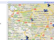 Générer carte déplacements Foursquare avec Google Maps