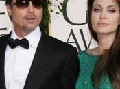Angelina Jolie Brad Pitt couple glamour Golden Globes 2011
