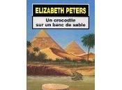 Elizabeth Peters crocodile banc sable