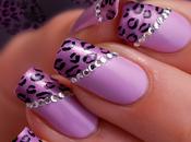 Pink léopard nail