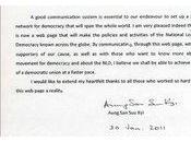Aung tisse toile! parti, Ligue Nationale pour Démocratie vient mettre ligne premier site internet histoire