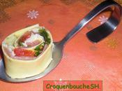 Cannelloni jambon parme, parmesan, pesto vert, roquette tomates sechee