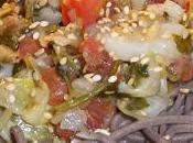 Salade dorade marinée soba vent fraîcheur japonisant…