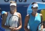 Ivanovic Maria Sharapova remise trophées photos