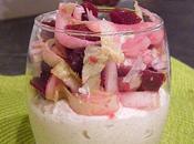 Verrine mousse jambon boursin salade d'endives betteraves