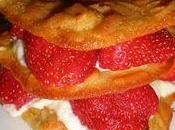Mille-feuille tuiles fraises amandes