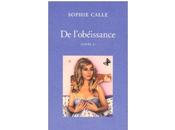 Doubles-jeux l'obéissance (Livre Sophie Calle