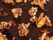 Tarte chocolat (ganache sans crème amandes caramélisées