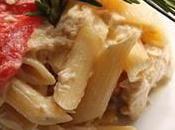 recette Pâtes Penne poivrons thon