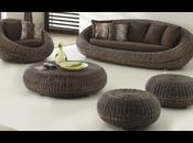 option verte, meubles jacinthe d'eau rotin