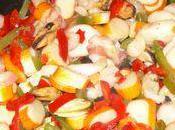 Salade pecheur poulpe sauce agrume