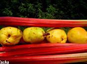 Tarte compotée rhubarbe poires pâte sablée sésame doré