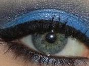 Make bleu avec nouveaux fards