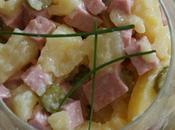 Salade pommes terre nouvelles cervelas cornichons
