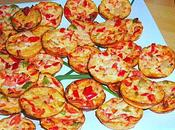 Mini Croque-Quiches poivrons-coco (apéritif)
