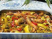 Paella valenciana fruits façon)