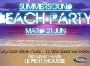 "Juin Beach Party ""soirée plage Pointe Rouge Petit Mousse"""