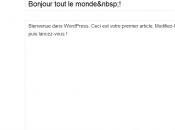 Passer WordPress oui, mais faut MySQL 5.2.4