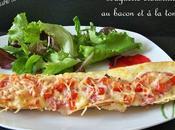 Baguette croustillante bacon tomate