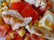 Salade tomates fermière (recette légère)